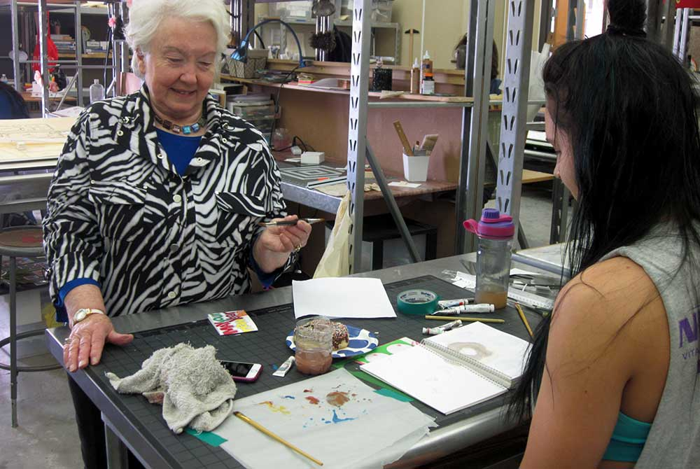 Artist Judi Betts leads watercolor workshops at LSU annually.