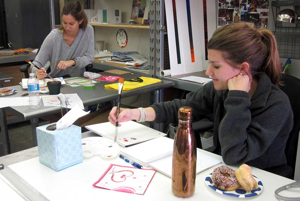 students in the Judi Betts Watercolor Workshop