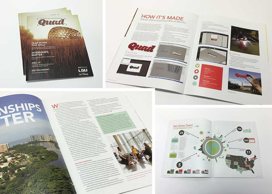 Inside pages of Quad magazines