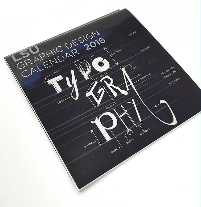 LSU 2016 Graphic Design Calendar cover