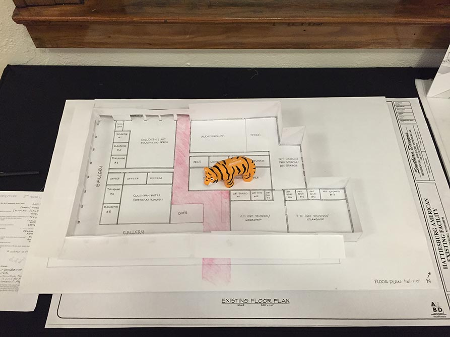 hattiesburg arts council floor plan