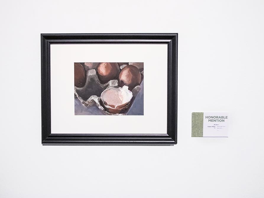 Honorable Mention: Adam Miller, Broken, oil on canvas, lsu high school art exhibition