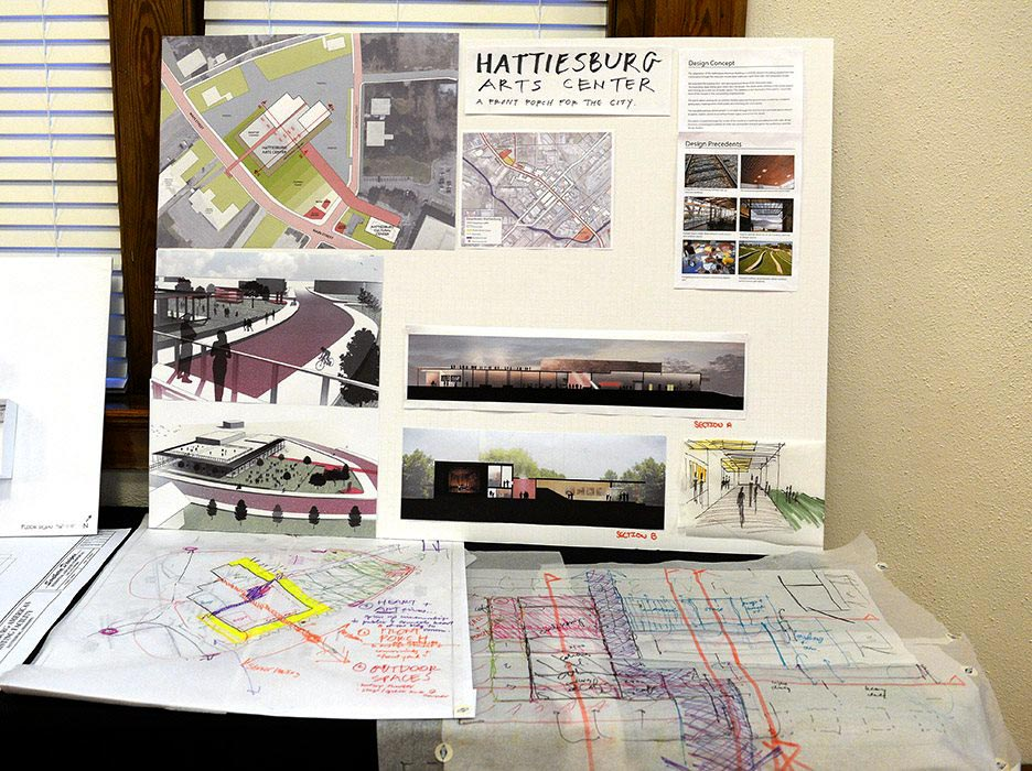 Charette drawings, hattiesburg arts council