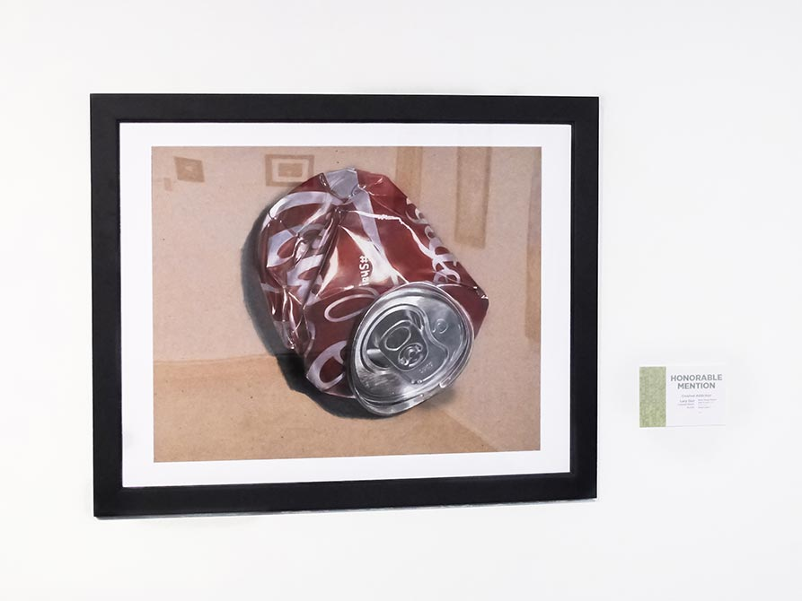 Honorable Mention: Lucy Guo, Crushed Addiction, acrylic and watercolor, lsu high school art exhibition
