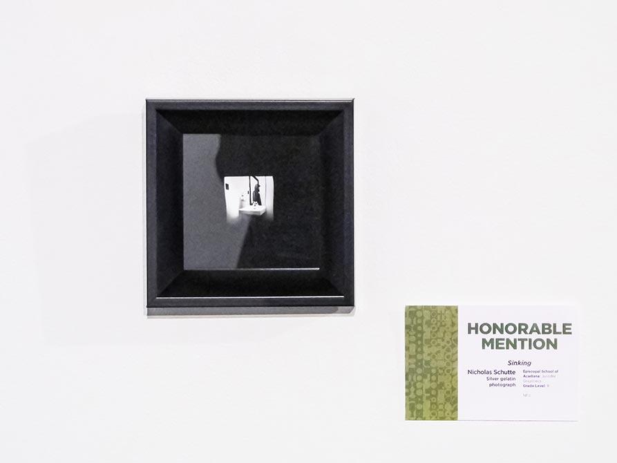Honorable Mention: Nicholas Schutte, Sinking, silver gelatin photograph, lsu high school art exhibition