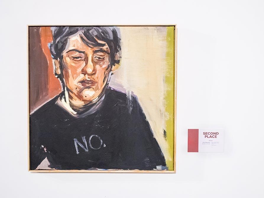 Second Place: Zoe Beaman, Ethan, acrylic on canvas, lsu high school art exhibition