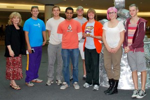 Associate Professor Marsha Cuddeback (far left) with students in LSU in South Africa APA program.
