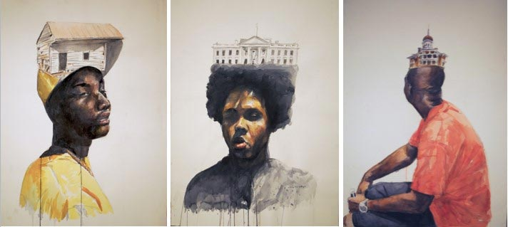 All the King's Men, tryptic painting justin bryant