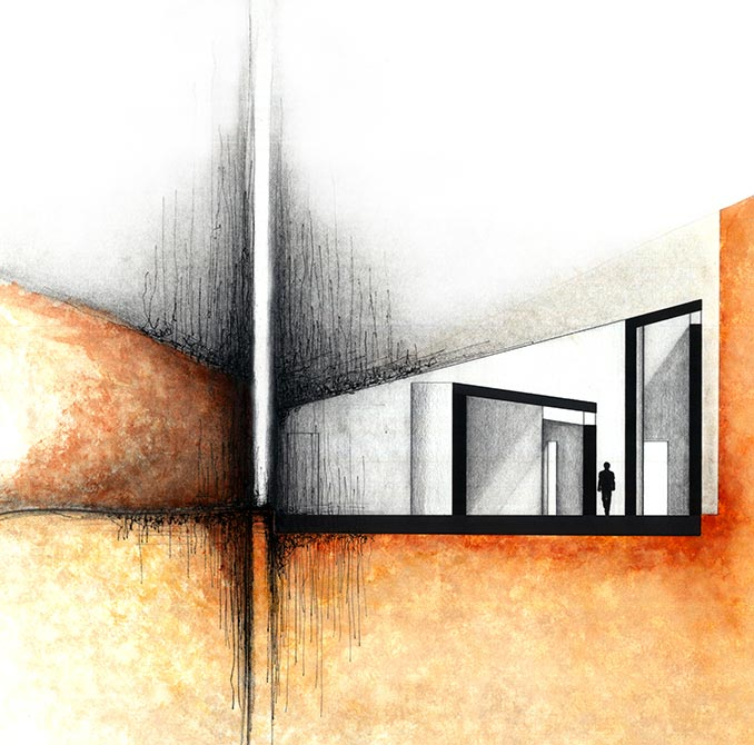 Abstract section drawing, lsu arch 2002
