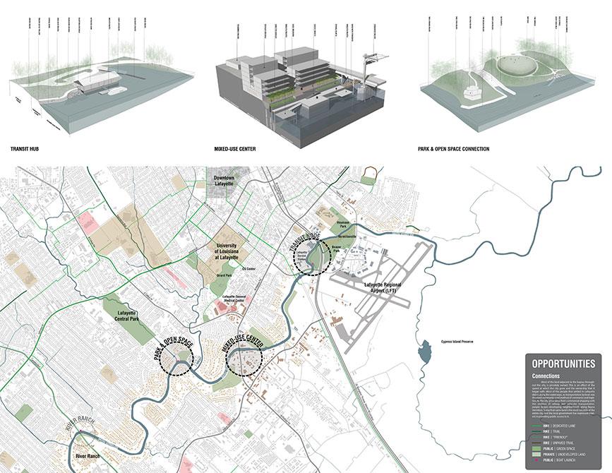 The Vermilion Corridor program diagram, 2016 asla awards