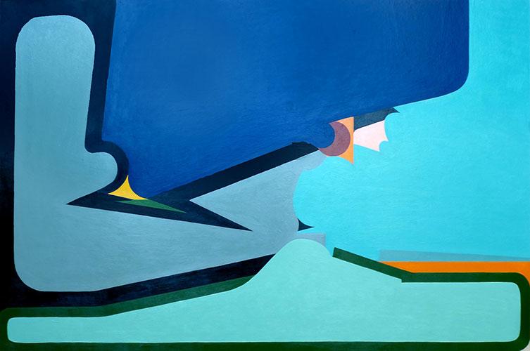 mario naves blue abstract