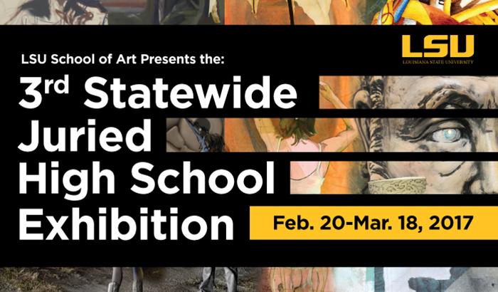 lsu high school exhibition poster