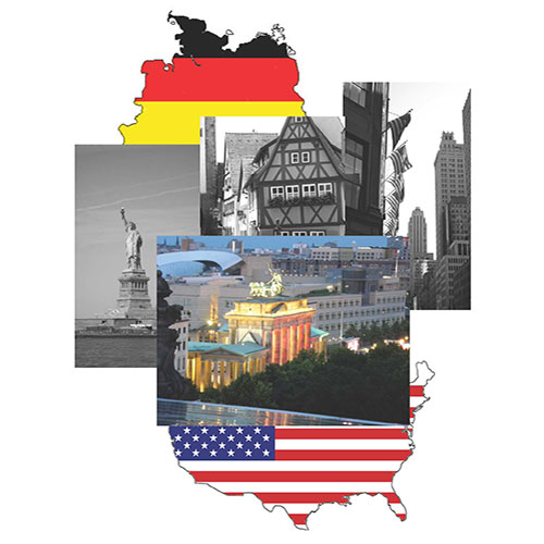 germany meets america collage