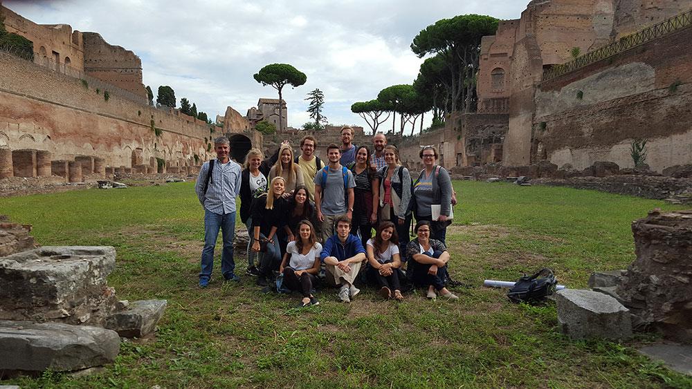 lsu rome program students site visit