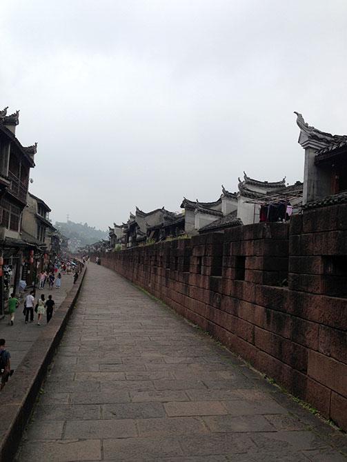 Path along wall in china