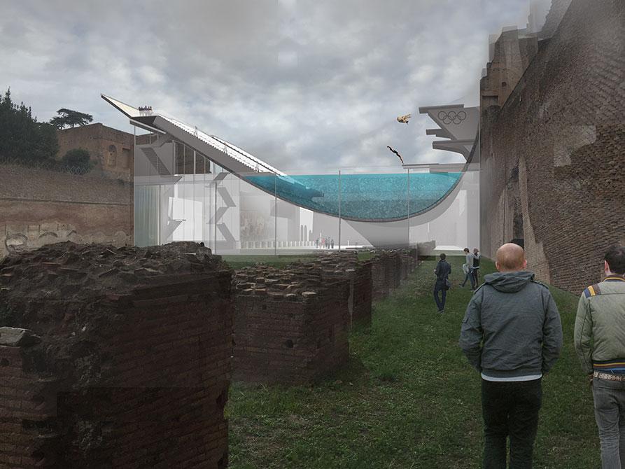 lsu rome program, Rendering by Kelsey Liggio (BID 2016)