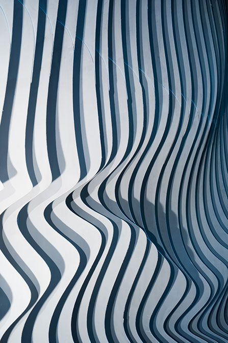 topographic wave texture, rising water installation