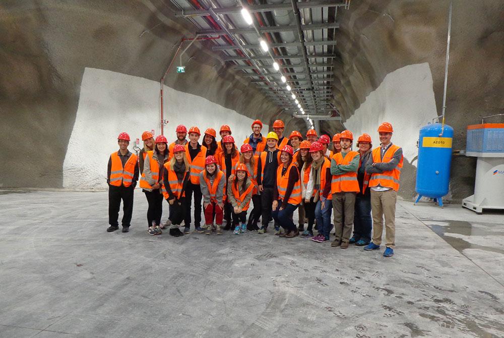 lsu rome program students in concrete lab
