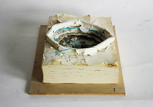 Book made into model of sinkhole