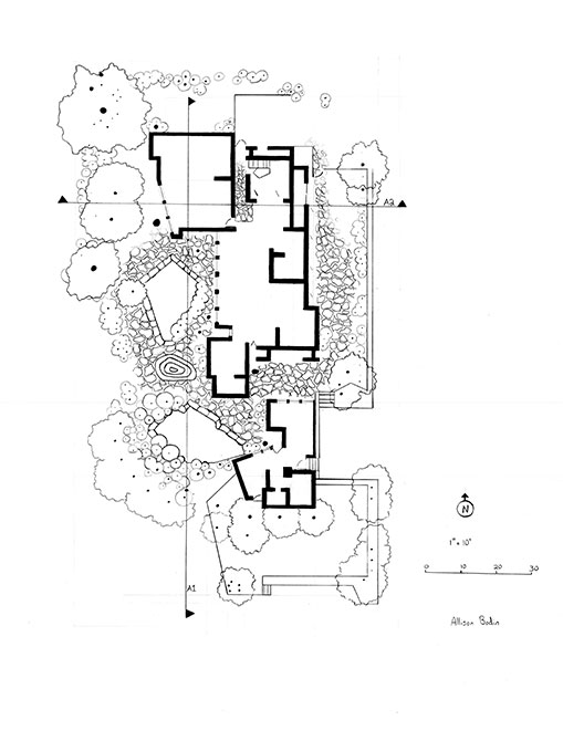 Plan of James Rose Home and Garden