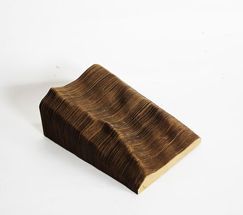 Wooden model of contours of glacier landscape