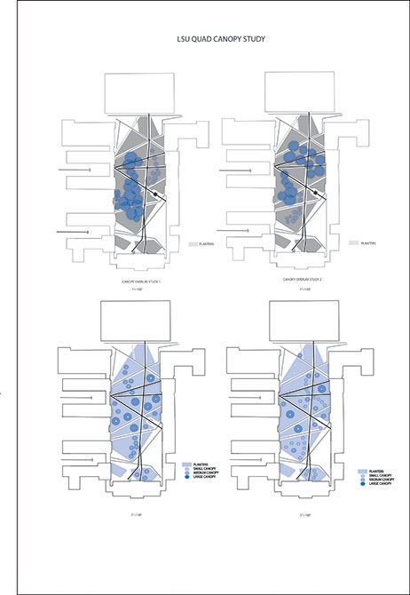 LSU quad canopy study diagrams