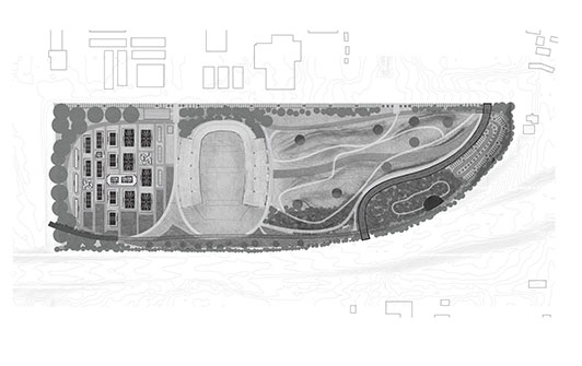 Site plan of Memorial Stadium Park