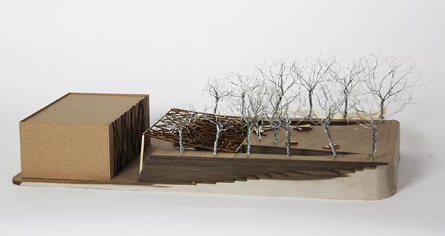 Site model of a park