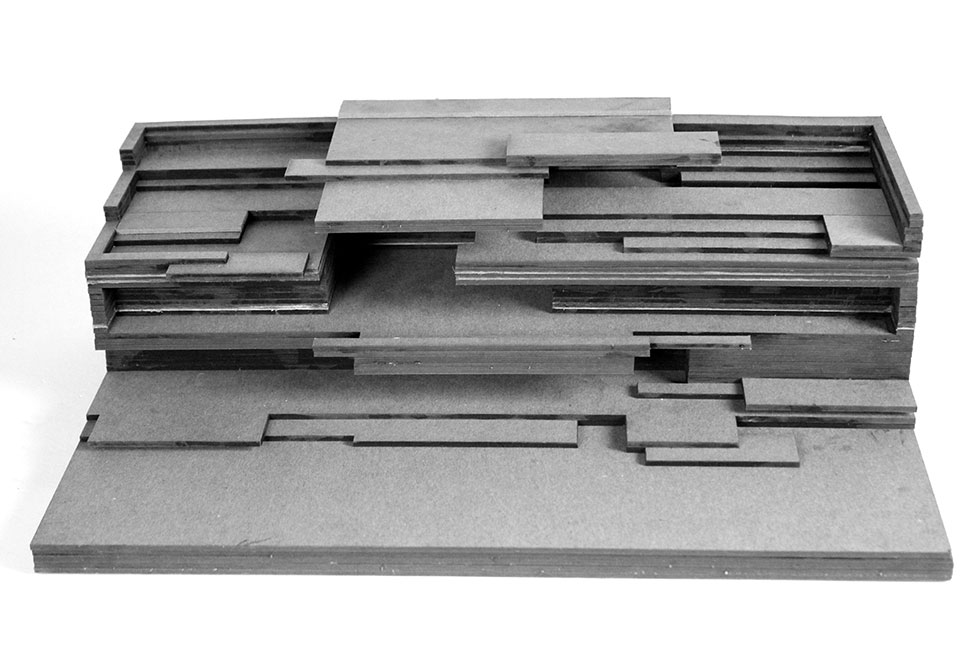 LSU landscape architecture laser cut model