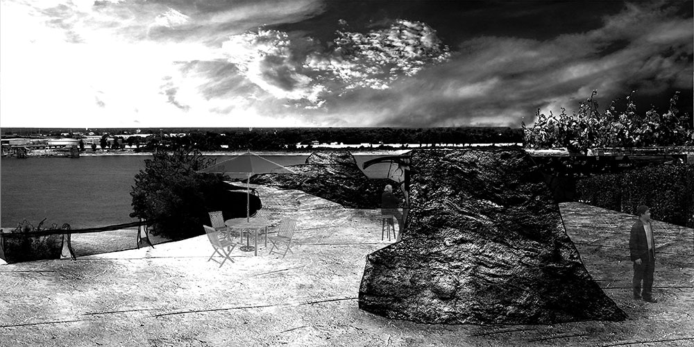 LSU landscape architecture black and white perspective