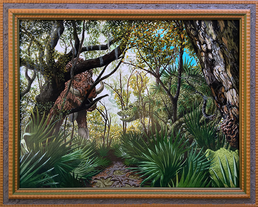 jonathan mayers tropical jungle painting