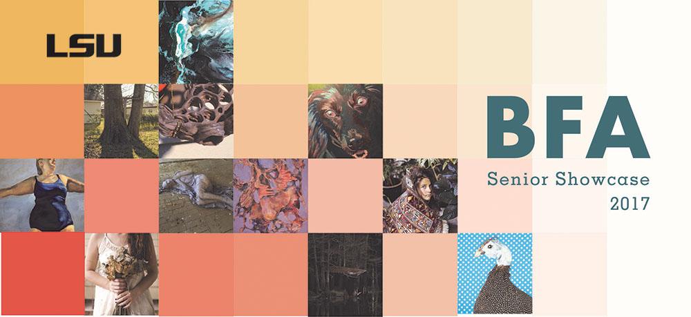 BFA Senior Showcase 2017; graphic squares