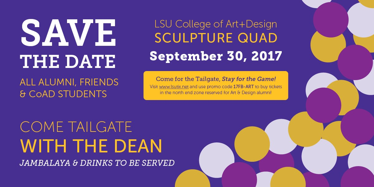 lsu art and design tailgate
