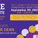 lsu art and design tailgate
