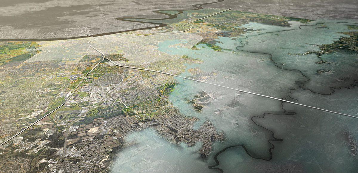 aerial simulation louisiana landscape