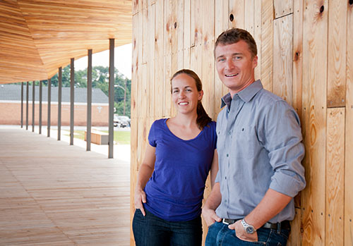 Marie and Keith Zawistowski, partners of onSITE architecture
