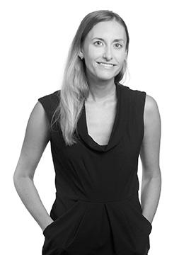 Black and white portrait photo of Elizabeth Mariotti