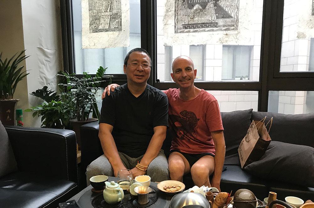 Professor Doubleday and Dean Jian Zhao, Tsinghua University.