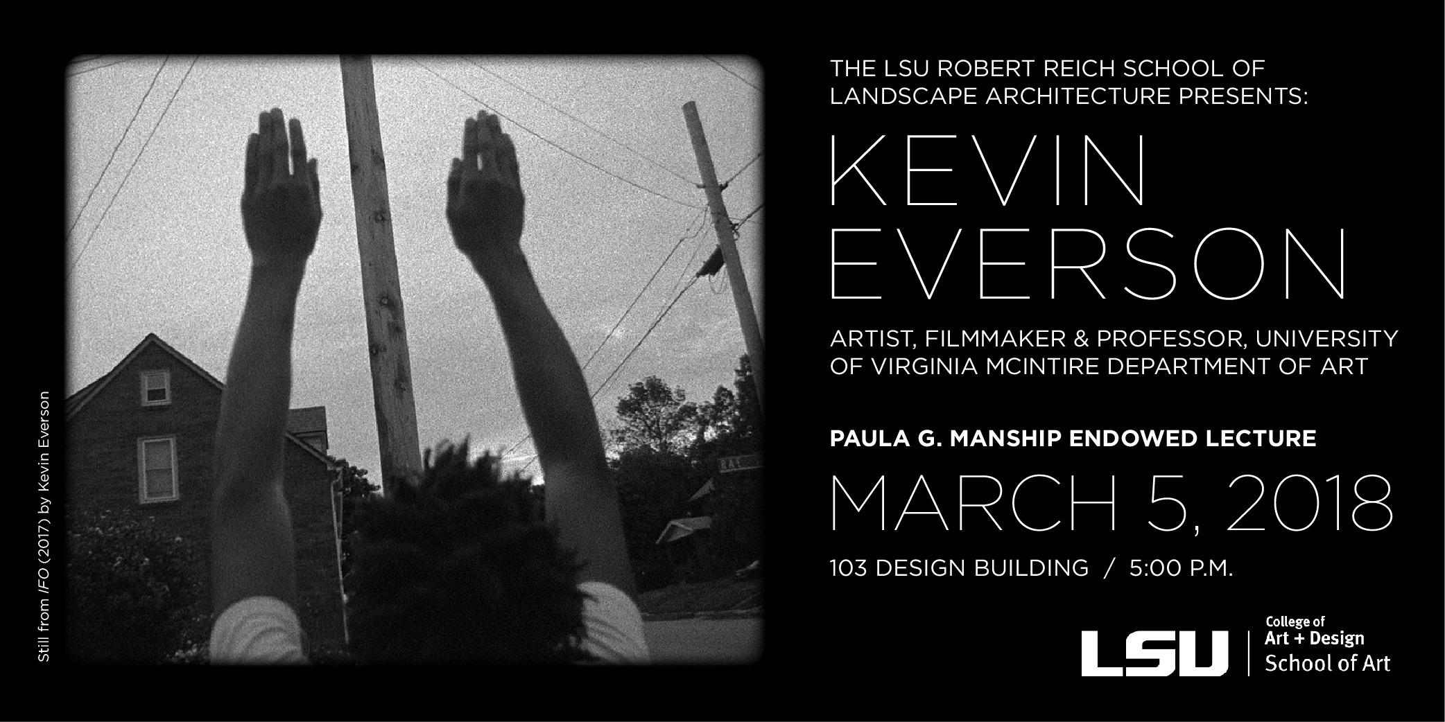 Kevin Everson Lecture March 5
