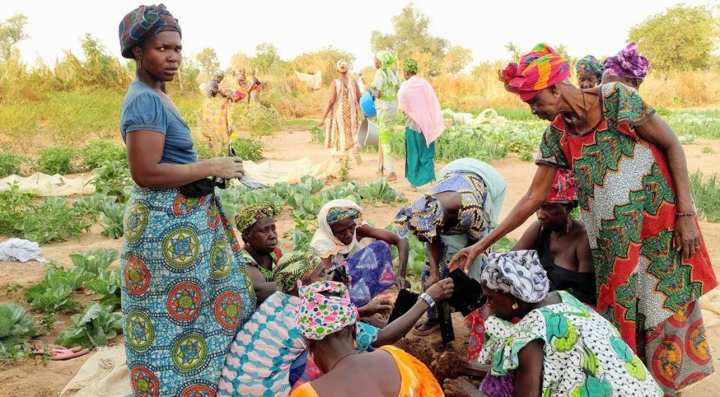 African women in colorful dresses