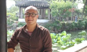Professor William Ma in Southeast Asia garden