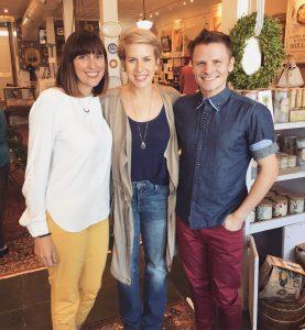 From left: Amanda Connolly (BID '00), Erin Napier (Home Town star)