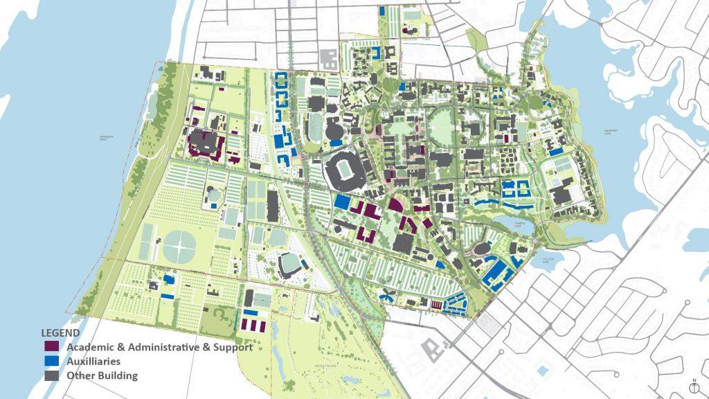 map of LSU campus
