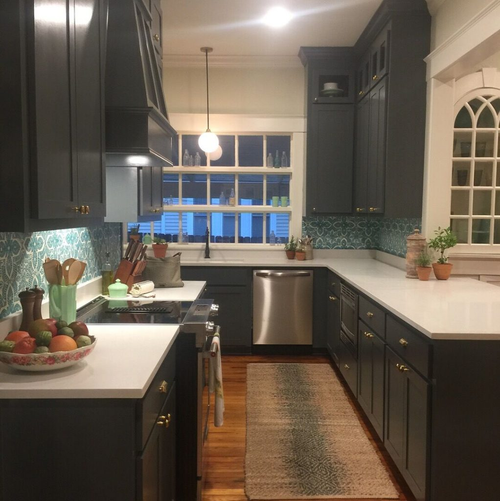 Finished kitchen interior design