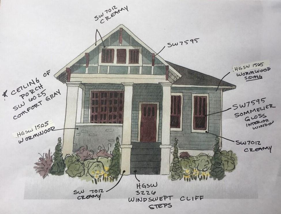Home exterior design illustration