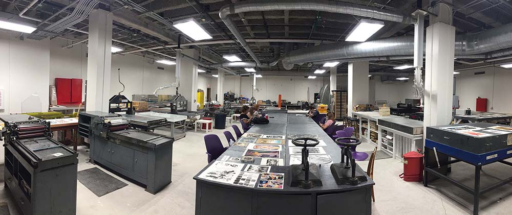 LSU printmaking studio