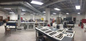 LSU printmaking lab. Photos by Hayden Nagin