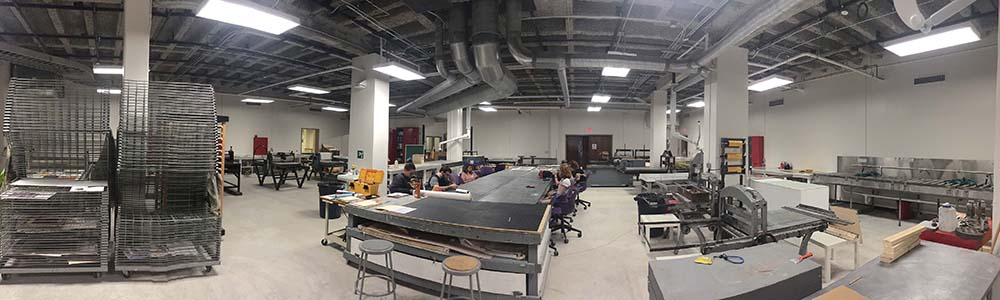 LSU printmaking studio space