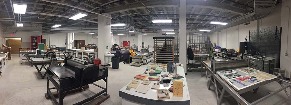 LSU printmaking studio interior