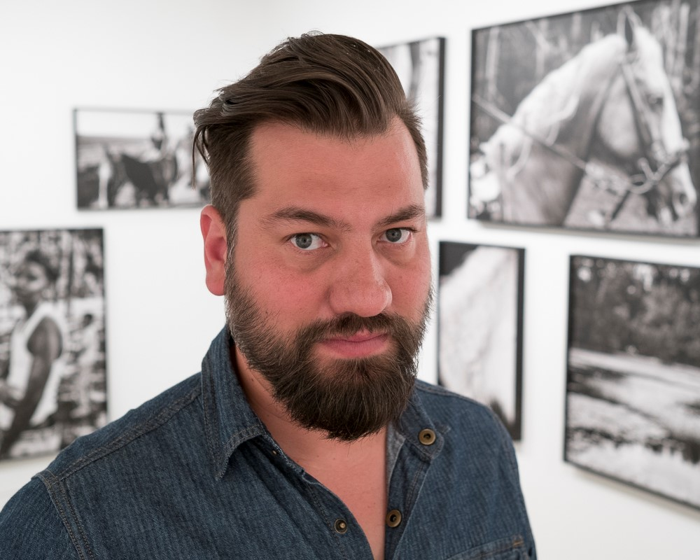 LSU photography professor Jeremiah Ariaz in gallery